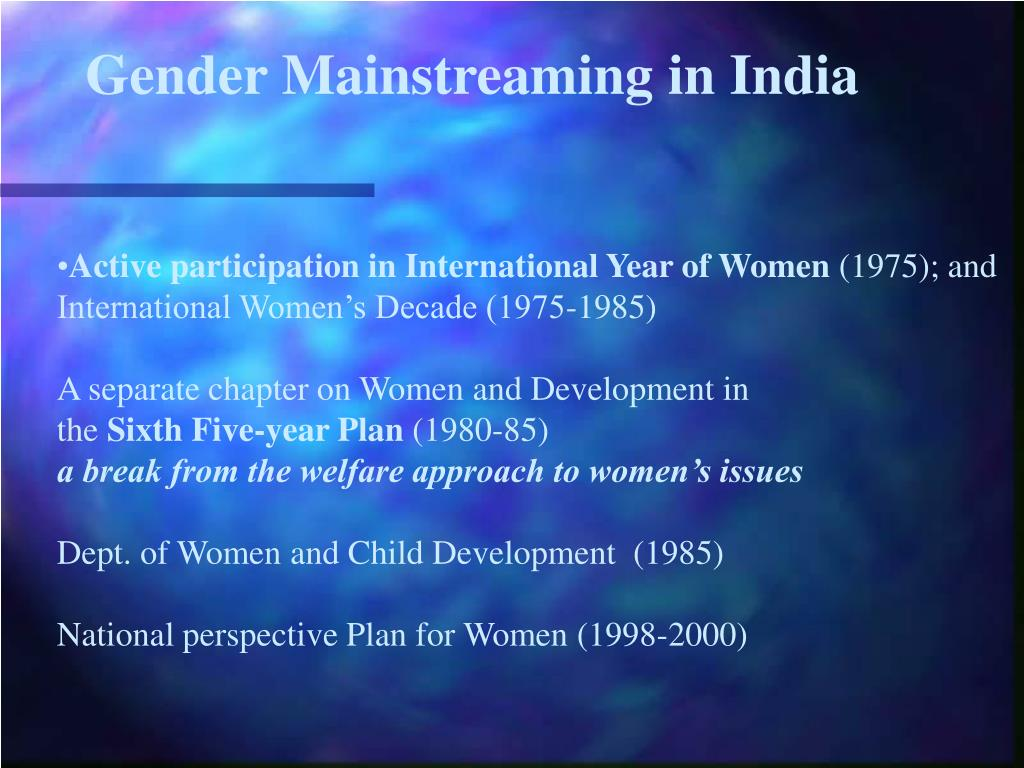 gender mainstreaming taking action getting results essay