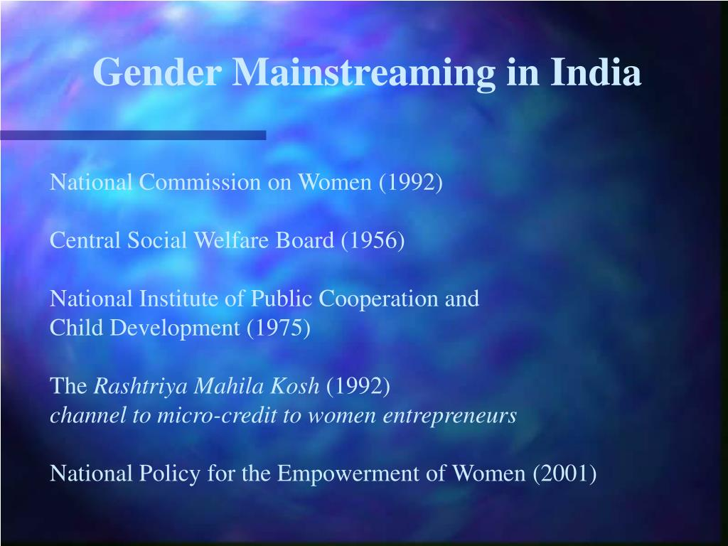 Gender Mainstreaming in India