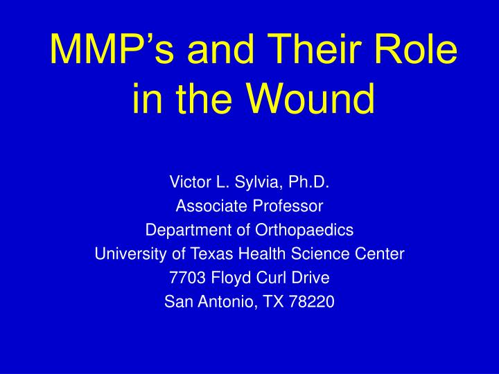 mmp s and their role in the wound n.