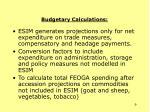 budgetary calculations