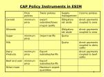 cap policy instruments in esim4