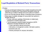 legal regulation of related party transactions