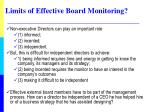 limits of effective board monitoring