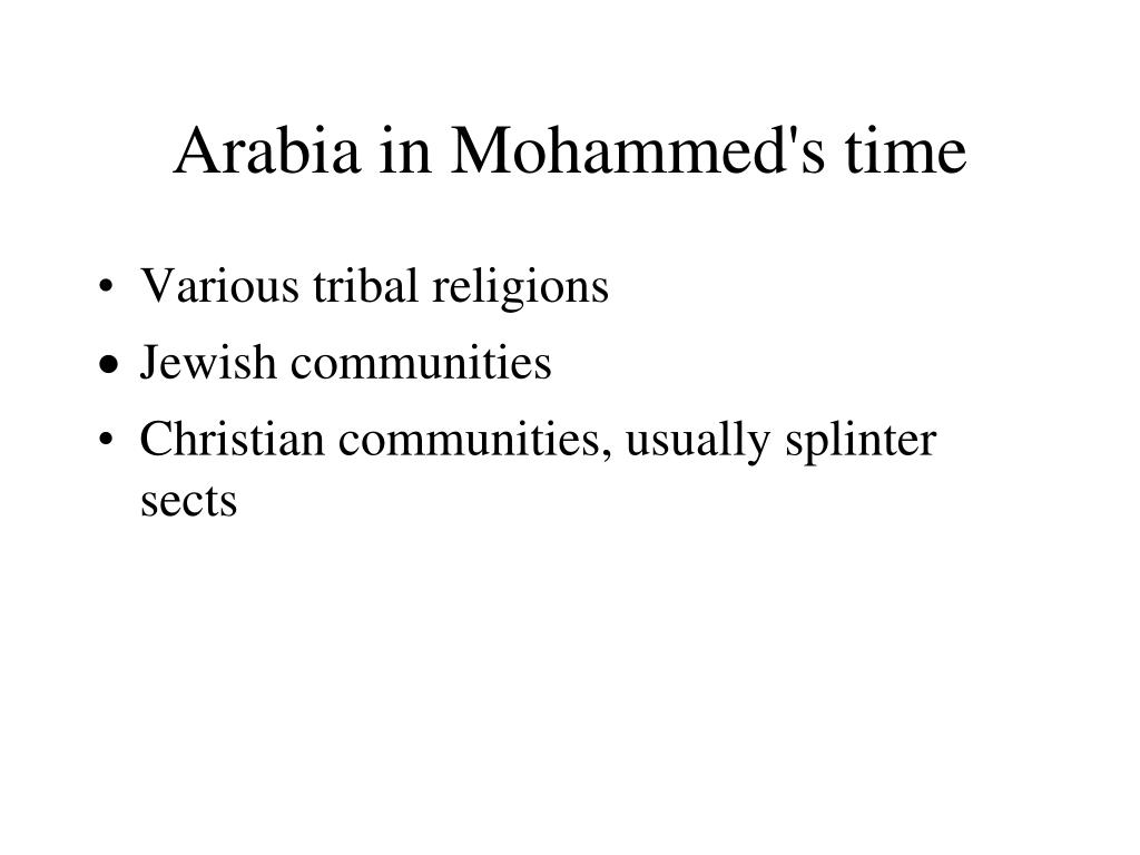 Arabia in Mohammed's time