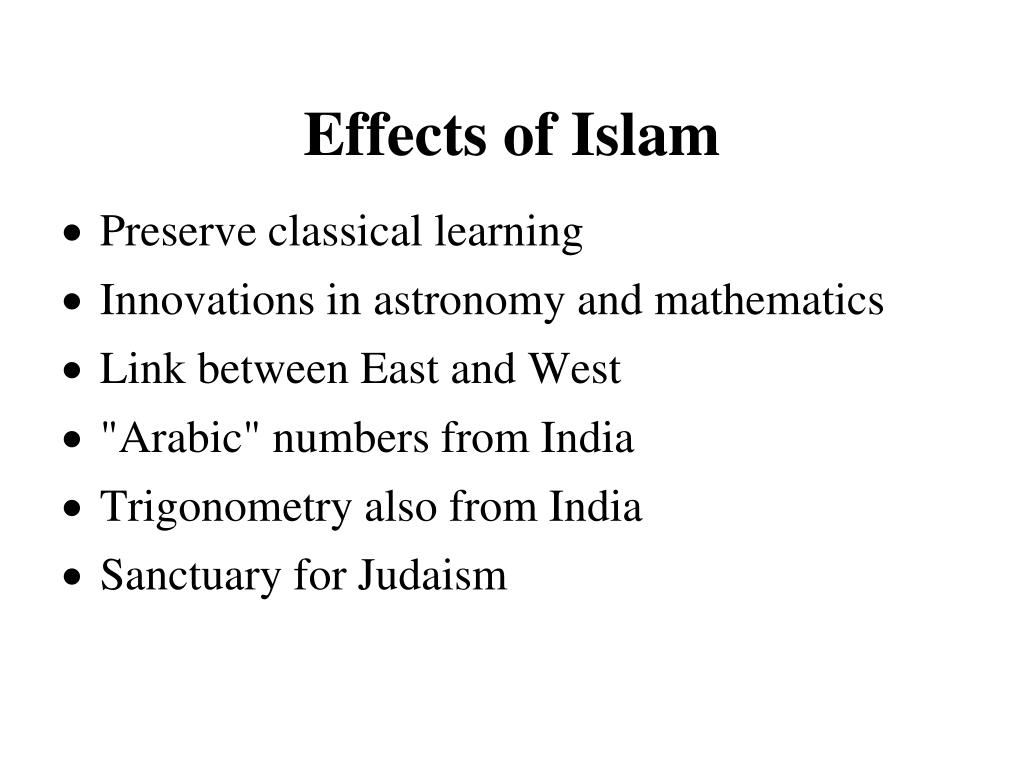 Effects of Islam