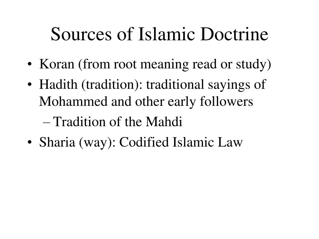 Sources of Islamic Doctrine