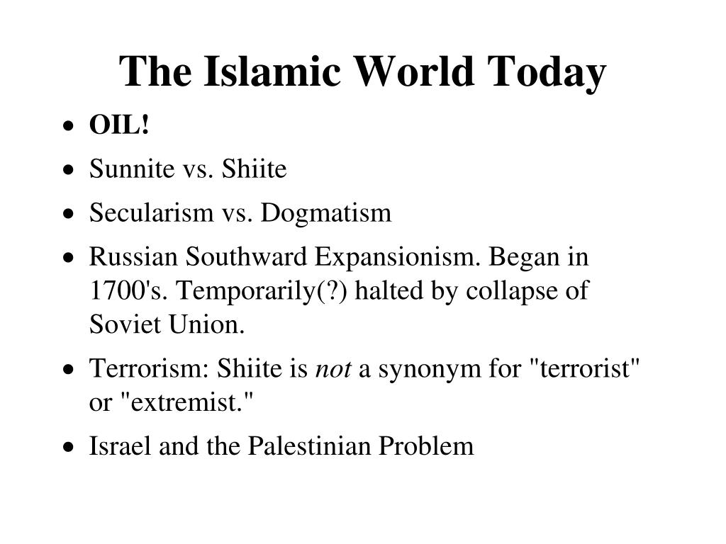 The Islamic World Today