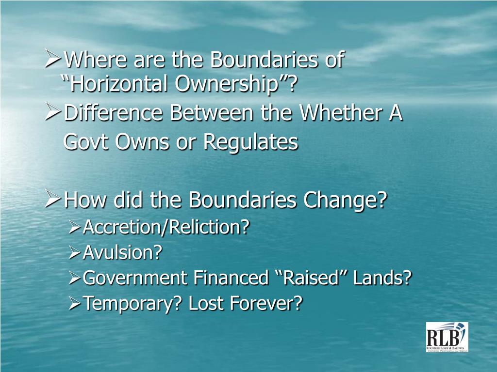 "Where are the Boundaries of ""Horizontal Ownership""?"