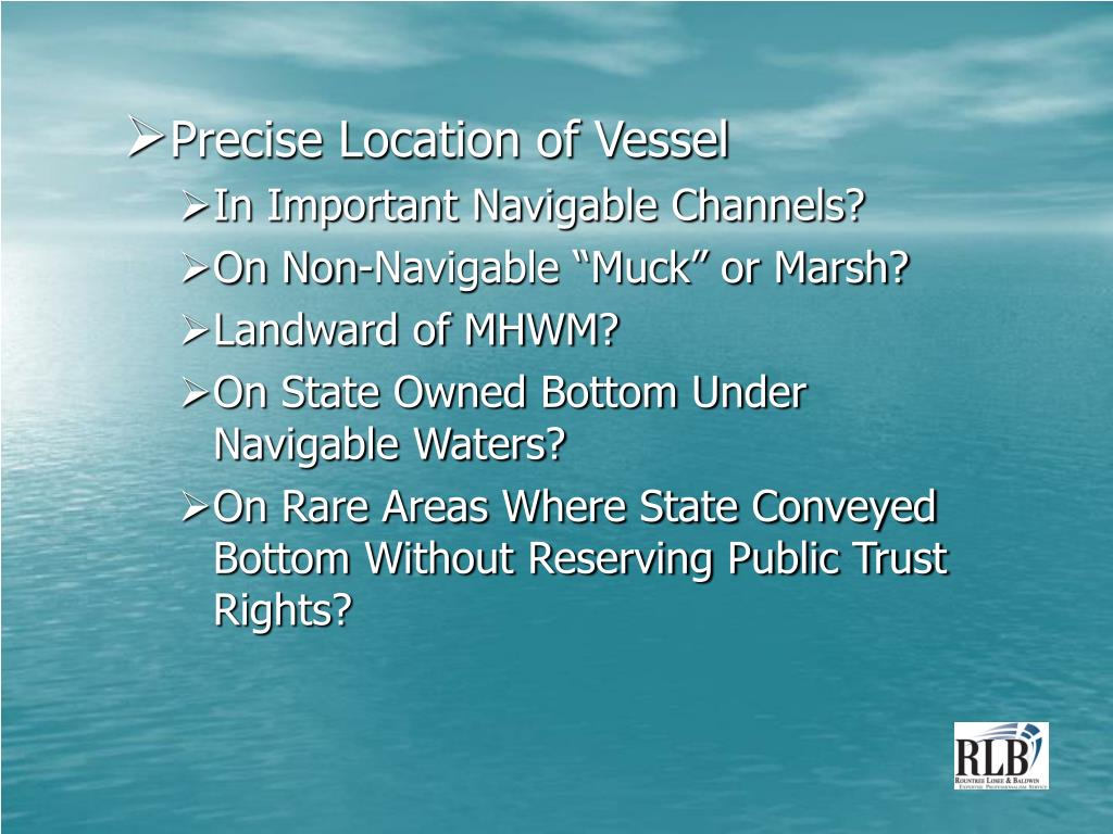Precise Location of Vessel