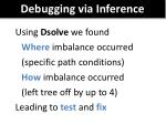 debugging via inference