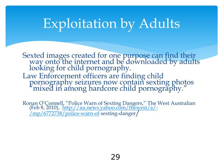 Exploitation by Adults