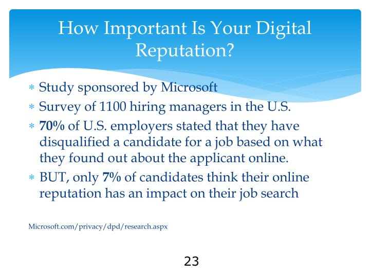 How Important Is Your Digital Reputation?