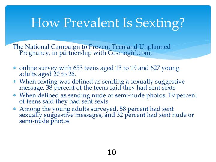 How Prevalent Is Sexting?