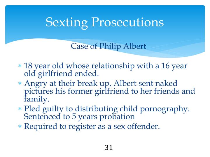 Sexting Prosecutions