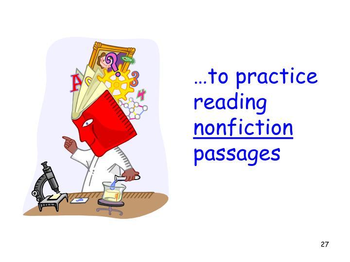 …to practice reading