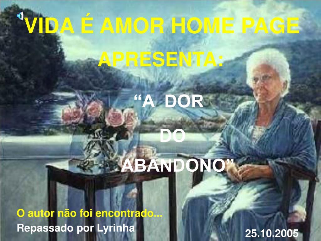 VIDA É AMOR HOME PAGE
