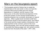 marx on the bourgeois epoch
