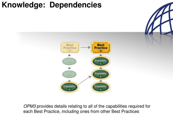 Knowledge dependencies