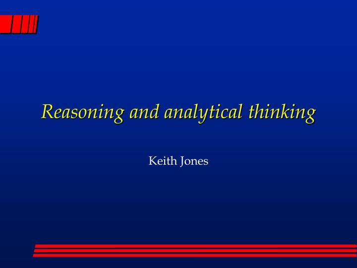 reasoning and analytical thinking n.