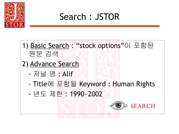 Search : JSTOR