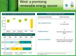 wind a promising renewable energy source