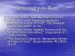 bibliography by tkacz