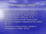bibliography cont d