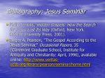 bibliography jesus seminar