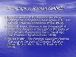bibliography roman catholic