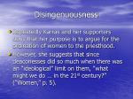 disingenuousness