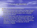 focus on women