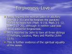 forgiveness love