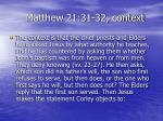 matthew 21 31 32 context