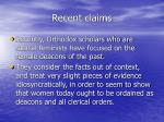 recent claims