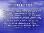 the jesus seminar