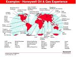 examples honeywell oil gas experience