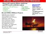 oil gas offshore production references