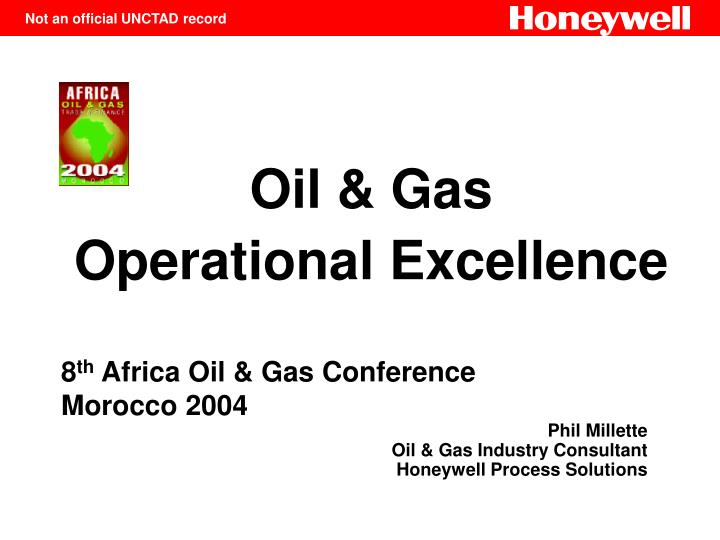 oil gas operational excellence n.