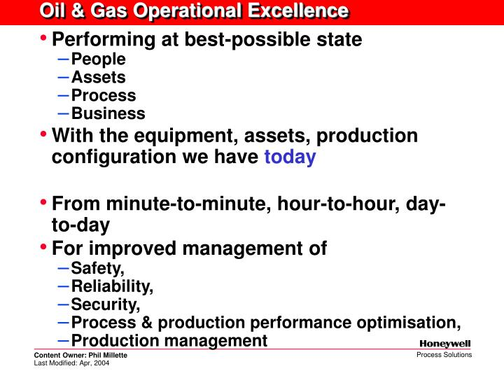 Oil & Gas Operational Excellence