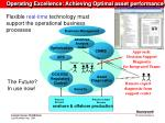 operating excellence achieving optimal asset performance