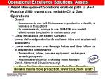 operational excellence solutions assets