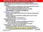 operational excellence solutions process