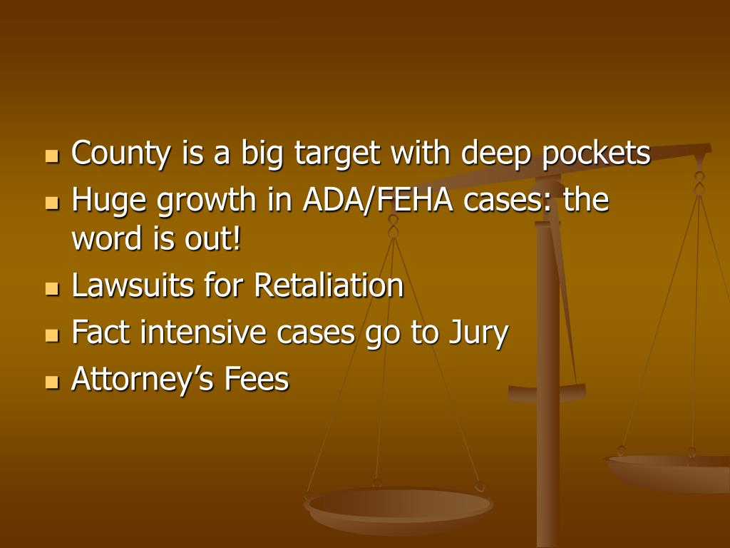 County is a big target with deep pockets
