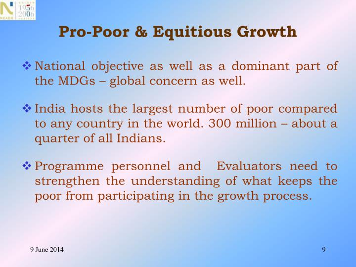Pro-Poor & Equitious Growth