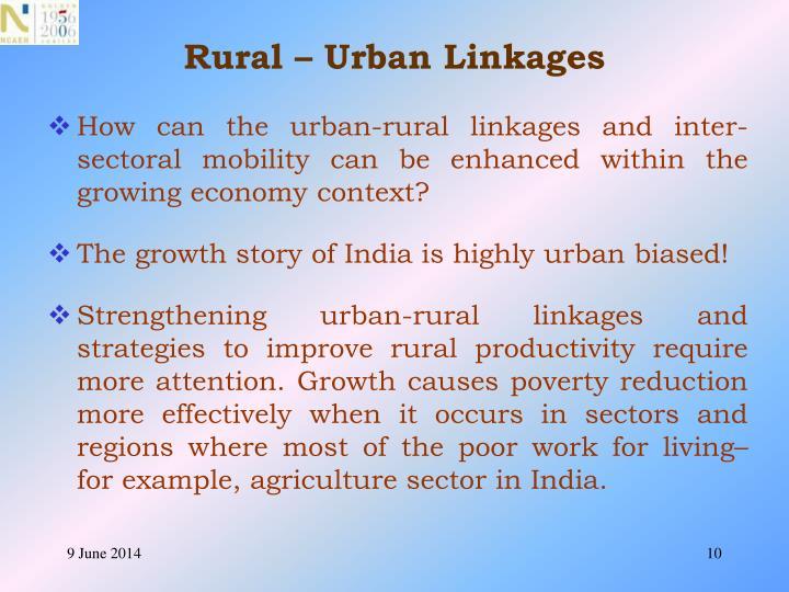 Rural – Urban Linkages
