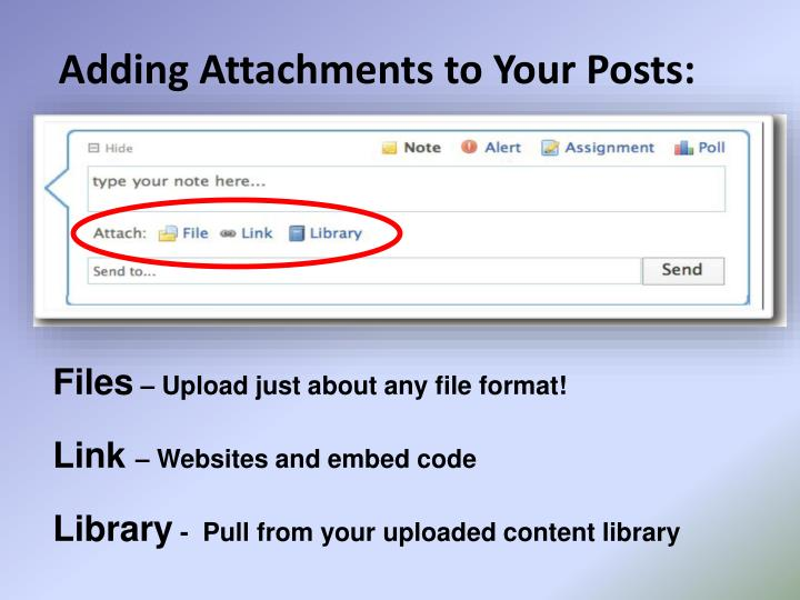 Adding Attachments to Your Posts: