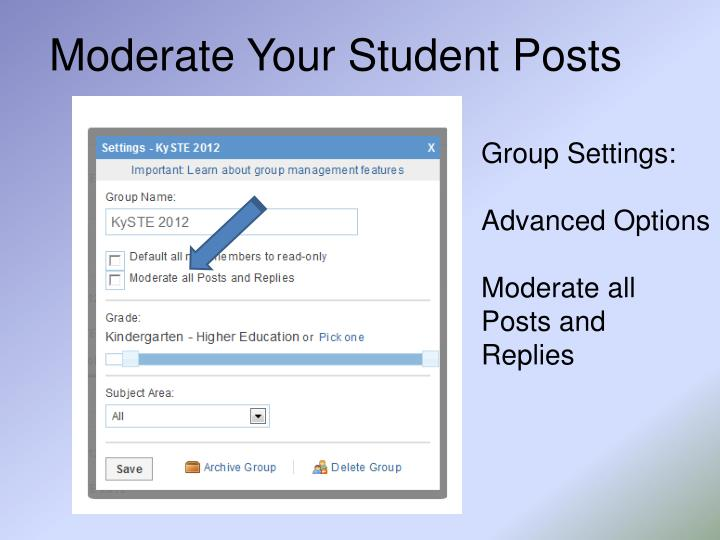 Moderate Your Student Posts