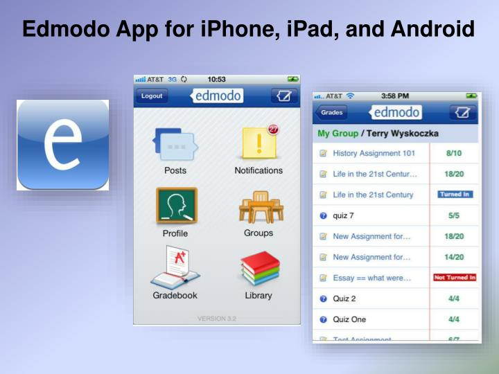 Edmodo App for iPhone, iPad, and Android
