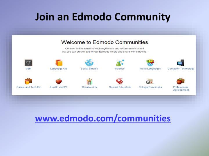 Join an Edmodo Community