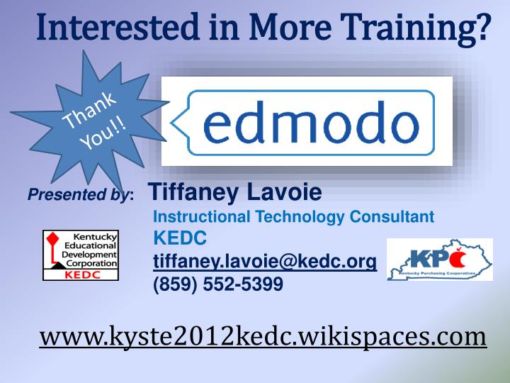 Interested in More Training?